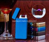 Hombres USB encendedor de metal Mirro electrónicos fumadores de cigarros