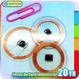 13.56MHz ISO15693 PVC SLIX ICODE petite étiquette RFID pour l'industrie