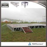 TUVの証明書が付いているスリップ防止合板のプラットホームのイベントの段階のアルミニウム移動式段階