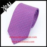 Perfect Knot 100% tela artesanal impresso gravata de seda 7 dobras