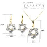 Het nieuwe Geplateerde Goud van de Reeksen van de Juwelen van Doubai van de Vrouwen van de Manier van de Aankomst 18k
