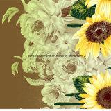 100%Polyester солнцецвет Pigment&Disperse напечатал ткань для комплекта постельных принадлежностей