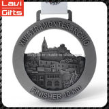 Medallas nueva alta calidad del diseño de encargo del metal del deporte de la acabadora