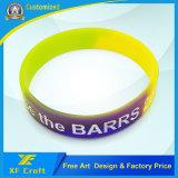 Wristbands del silicone resi personali abitudine all'ingrosso/elastici/del braccialetto (XF-WB11)