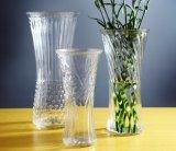 Vaso di fiore di vetro della decorazione della fabbrica di arte di cristallo domestica all'ingrosso di cerimonia nuziale