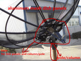 Gran antena parabólica de 4,5 m/450cm (16 pies) de la malla de aluminio de satélite en banda C