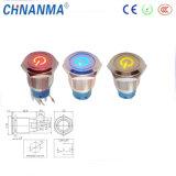Tipos de eléctrico con energía símbolo LED Empuje el interruptor de botón