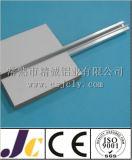 6063t5 perfil de alumínio anodizado prateado com decoração (JC-C-90080)