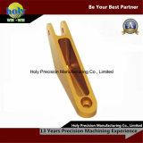 Gele Geanodiseerde CNC CNC van de Schakelaar van de Douane van de Delen van het Aluminium Delen
