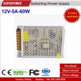 12V 5A 60W Schaltungs-Stromversorgung für LED Linghting