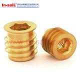Rampa insérer les écrous en laiton spirale modèle extérieur