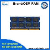 Полная совместимость 128 * 8 ноутбука DDR3 2GB RAM памяти (NB DDR3 2GB)