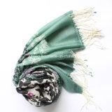 100 % laine peignée imprimé volé shawl (AHY30003334)