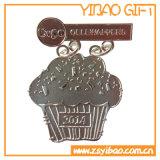 記念品(YB-m-017)のための卸し売り旧式な真鍮の金属メダル