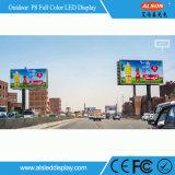P8 SMD Volledige Color Openlucht Vaste LEIDENE Wall voor Reclame