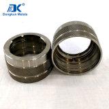 Customized alumínio e aço inoxidável da Luva de usinagem CNC por tira