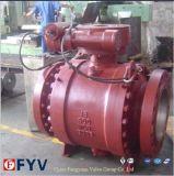 Válvula de controle de óleo a gasolina com válvula de esfera montada com trunhão de 2 peças