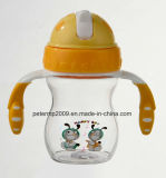 250ml geben Baby-Flaschen-Beispielbaby-Heißwasser-Flasche, Plastikkind-Wasser-Flasche frei (hn-1601)