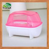 Verde blu bianco di colore rosa della toletta di sauna della stanza della sabbia del bagno della stanza da bagno del criceto dell'animale domestico della stanza da bagno del criceto