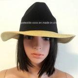 50% бумаги соломенной шляпе 50% полиэстер, Мода Контраст Col Стиль для Unisex