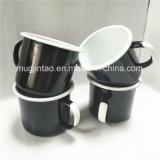 Tazza bianca di campeggio di stampa della maniglia dell'articolo da cucina della tazza di tè della tazza del Enamelware