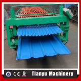 Rolo de aço da corrugação da folha da telhadura do Trapezoid da camada dobro que dá forma à máquina
