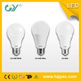 높은 루멘 E27 A60 108mm 3000k 6W LED 전구