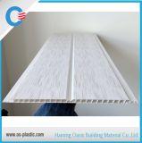 Panneau de plafond de PVC avec la cannelure plate et moyenne