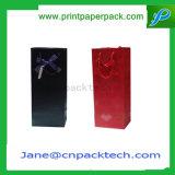 Bolsa de papel cortada con tintas favor de encargo del regalo de las compras de la manera de los bolsos