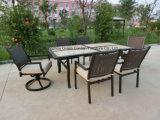 Напольная мебель обедая керамическая таблица с вращающееся кресло
