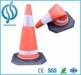 Colorida Base negra de plástico EVA cono de seguridad de tráfico