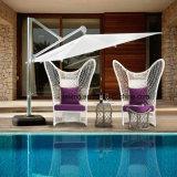 새로운 디자인 호텔 가구 밧줄 애인 소파 &Side Table&Ottoman (YT998)를 가진 옥외 가구 커피 세트