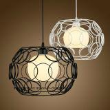 De ronde Lamp van de Tegenhanger van de Kroonluchter van het Ijzer Moderne Eenvoudige voor Restaurant