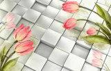 Belle peinture à l'huile à la décoration de la sculpture de tulipe à jade