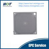 Plaque de filtre à membrane à haute température et pression anti-statique PP