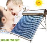 Despresurizado no/calentador de agua solar de energía solar del tubo de vacío del colector solar del sistema del calentador de agua caliente del acero inoxidable de la presión inferior
