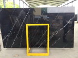 &Tiles di marmo delle lastre di Nero Marquina per la copertura di &Floor della parete, negro Marquina, Mosa Classico, il nero della Cina della Cina con la vena bianca, Nero Orientale, marmo nero della Cina