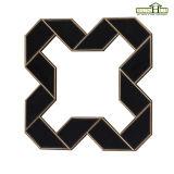 Het antieke Geometrische Gestalte gegeven Frame van de Spiegel met het Zwarte Scherpen