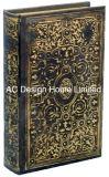 El viejo estilo Vintage antiguo relieve de cuero de PU/almacenamiento de madera MDF cuadro Libro