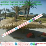 Kunstmatig met stro bedek Synthetisch met stro bedekken Plastic Palm met stro bedekken de Staaf van Tiki van het Dakwerk