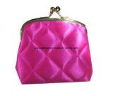 Ladies Satin Quilted Cute KIS Lock Corner Purse Bag