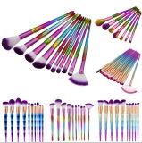 Reputación confiable del nuevo del polvo del diamante de la cuerda de rosca del pelo del color del maquillaje kit del cepillo