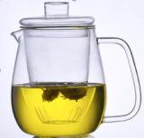 de Dubbele Theepot van het Glas van de Muur 700ml Pyrex/Borosilicate met het Deksel en de Filter van het Glas