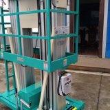 Het dubbele Platform van het Werk van het Aluminium van de Mast Lucht (Maximum Hoogte 12m)