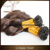 Extensões que do cabelo da queratina de Remy do preço de fábrica eu derrubo