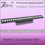 Arruela da parede do diodo emissor de luz da barra 5in1 do diodo emissor de luz da mudança DMX da cor de RGBWA para o estágio do teatro do estúdio