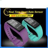 O bracelete de relógio esperto magro duplo do esporte IP67 das mulheres 2017 dos homens do OEM coneta com o telefone para o Wristband do Android e do Ios