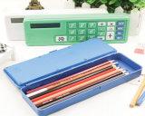Calculadora promocional con una caja de lápiz, calculadora de los items de escritorio