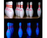 Bowlingspiel-Stiftglühen-Bowlingspiel-Stifte