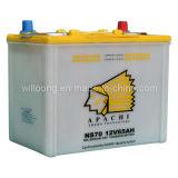 Batería de plomo ácido de carga seca NS70